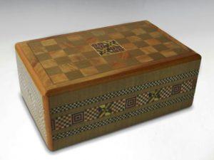 二宮義之作箱根細工秘密箱 からくり細工寄木細工