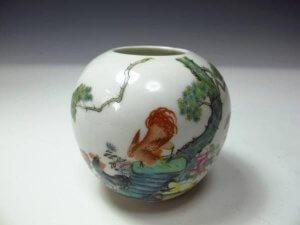 中国粉彩花器